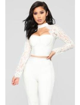 Banded In Love Bandage Set   Off White by Fashion Nova