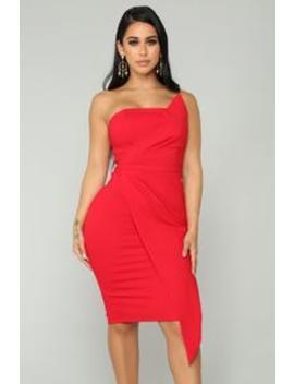 Hope You're Happy Dress   Red by Fashion Nova