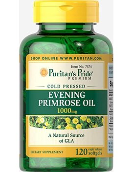 Puritans Pride Evening Primrose Oil 1000 Mg With Gla, 120 Count by Puritan's Pride