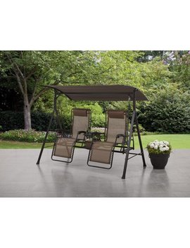 Mainstays Big And Tall Zero Gravity Outdoor Reclining Porch Swing by Mainstays