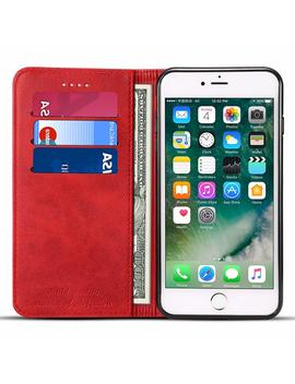 Leather Wallet Phone Case With Card Holder Kickstand Protective Folio Flip Cover For Iphone/Samsung by Fly Hawk