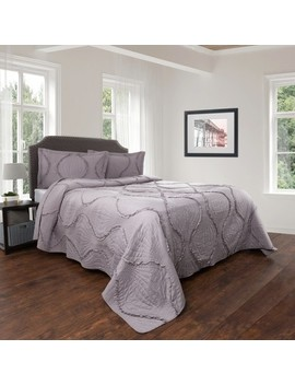 Hypoallergenic Curved Ruffle Design Quilt Set   Charlize Series By Yorkshire Home by Yorkshire Home