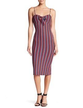 Striped Spaghetti Strap Dress by Velvet Torch
