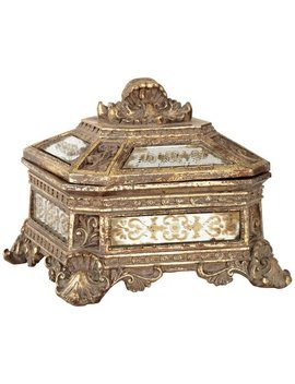 Kensington Hill Florentine Antique Gold Mirrored Jewelry Box by Kensington Hill