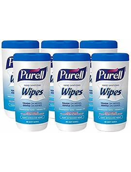 Purell Hand Sanitizing Wipes   Clean Refreshing Scent, Non Alcohol Wipes, 40 Count Canisters, 6 Pack by Purell