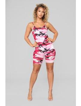 That Good Soul Romper   Pink by Fashion Nova