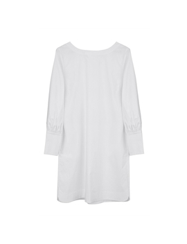 Poplin Boatneck Dress by Cuyana
