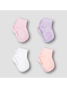 Hanes Toddler Girls' 4pk Comfortsoft Socks by Hanes