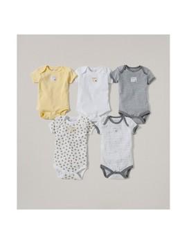 Burt's Bees Baby® Organic Cotton 5pk Short Sleeve Bodysuit Set   Sunshine by Burt's Bees Baby