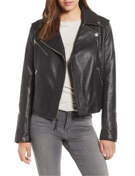 Asymmetrical Zip Leather Moto Jacket by Derek Lam 10 Crosby