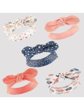 Hudson Baby Girls' 5pk Headband Set   Pink/Coral 0 12 M by Hudson Baby