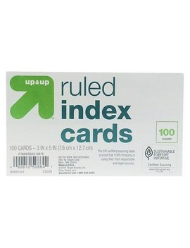 "Index Cards Ruled 3"" X 5"" 100ct   Up&Up™ by Up & Up™"