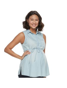 Maternity A:Glow Sleeveless Blouse by Kohl's