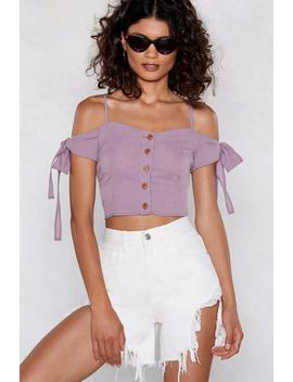 Short Notice Cold Shoulder Crop Top by Nasty Gal