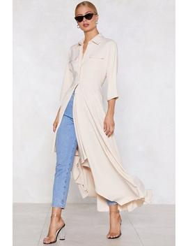 Long And Winding Road Longline Shirt by Nasty Gal