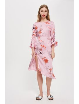 Petite Satin Monkey Midi Shift Dress by Topshop