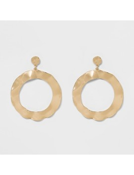 Sugarfix By Bauble Bar Hammered Metallic Hoop Earrings by Sugar Fix By Bauble Bar