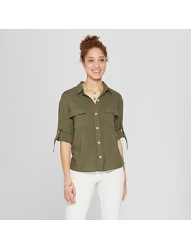 Women's 3/4 Sleeve Utility Shirt   A New Day™ by A New Day™