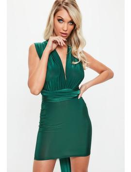 Green Slinky Multiway Mini Dress by Missguided