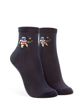 Astronaut Graphic Crew Socks by Forever 21
