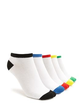 Contrast Trim Ankle Socks   5 Pack by Forever 21