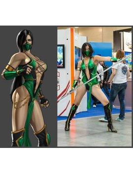 Jade Cosplay (Mortal Kombat 9, Jade, Jade Mortal Kombat, Jade Cosplay Costume, Game Cosplay, Fighting Cosplay) by Etsy
