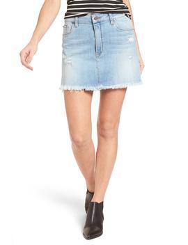 Distressed Denim Miniskirt by Bp.