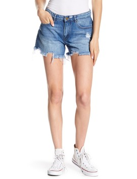 Perfect Distressed Frayed Denim Shorts by William Rast