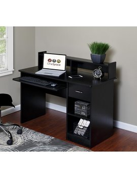One Space Essential Computer Desk With Hutch & Reviews by One Space
