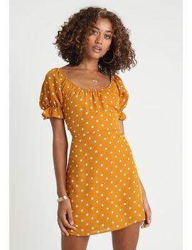 Ruffle Sleeve Fit Flare Dress   Korte Jurk by Honey Punch