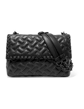 Olimpia Medium Studded Quilted Leather Shoulder Bag by Bottega Veneta
