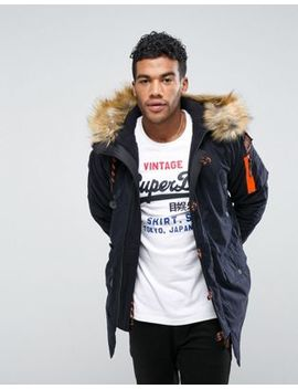 Superdry Parka With Faux Fur Lined Hood by Superdry