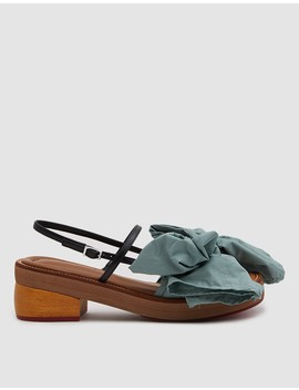 Bow Sandal In Waterfall by Marni