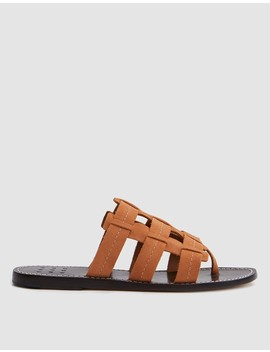 Cage Suede Sandal In Peach by Trademark