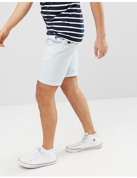 Solid Slim Fit Chino Short In Light Blue by Solid