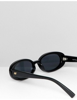 Le Specs Outta Love Oval Sunglasses In Black by Le Specs