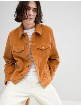 Asos Design Cord Western Jacket In Mustard by Asos