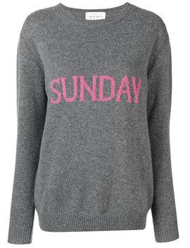 Alberta Ferretti Sunday Jumperhome Women Clothing Jumpers Pink Chloe 85 Fabric Buckle Strap Mules Sunday Jumper by Alberta Ferretti