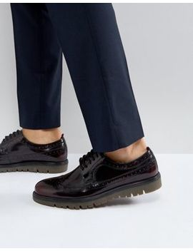 Walk London Timmy Chunky Brogue Shoes by Walk London
