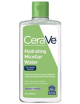 Cera Ve Micellar Water & Makeup Remover/Hydrating Facial Cleanser & Eye Makeup Remover W Hyaluronic Acid To Remove Foundation Makeup, Waterproof... by Cera Ve