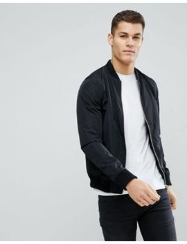 Solid Nylon Bomber by Asos Us