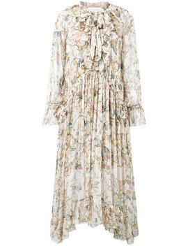 Zimmermann Painted Heart Ruffle Midi Dresshome Women Clothing Cocktail & Party Dresses by Zimmermann