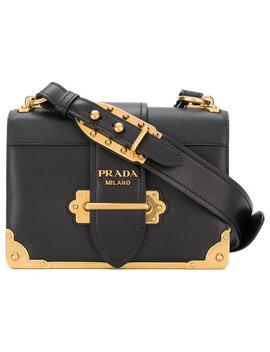 Prada Cahier Shoulder Baghome Women Bags Shoulder Bags Prada   Woman   Bouquet Print Skir Tcollarless Button Front Jacket Cahier Shoulder Bag by Prada
