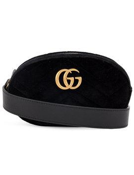 Gucci Black Marmont Velvet Belt Baghome Women Bags Satchels & Cross Body Bags by Gucci