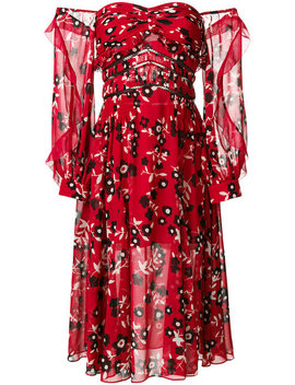 Self Portraitfloral Off Shoulder Dresshome Women Clothing Day Dresses by Self Portrait