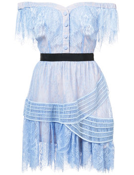 Self Portraitlace Embroidered Shift Dresshome Women Clothing Cocktail & Party Dresses by Self Portrait