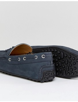 Kurt Geiger London Matthew Nubuck Drivers In Navy by Kurt Geiger London