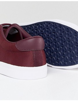 Fred Perry Underspin Nylon Trainers In Red by Fred Perry