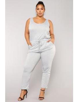 Sammy Lounge Jumpsuit   Heather Grey by Fashion Nova