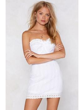 Throw 'em A Curve Strapless Dress by Nasty Gal